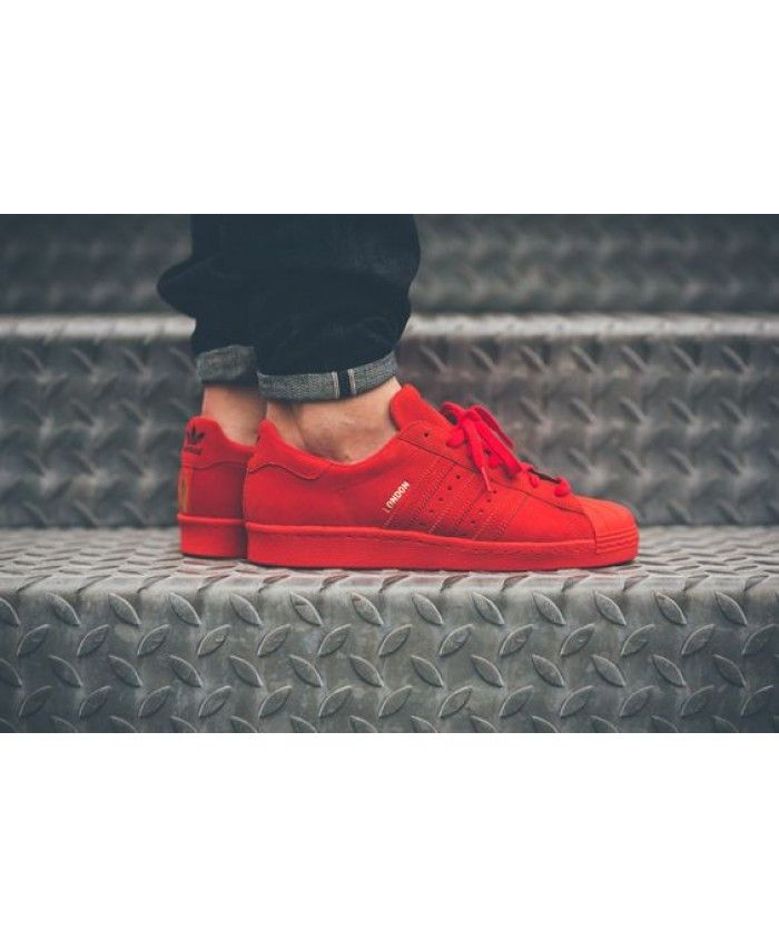 outlet on sale purchase cheap best choice Homme Adidas Superstar Tout Rouge Foncé   my Adidas in 2019 ...