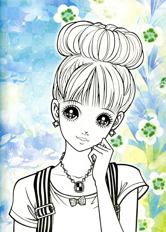 Manga coloriage fille adulte z coloriages pour adulte de - Adult manga 2 ...