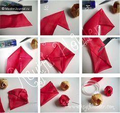 Home Decorating Ideas: Fabric flowers tutorial