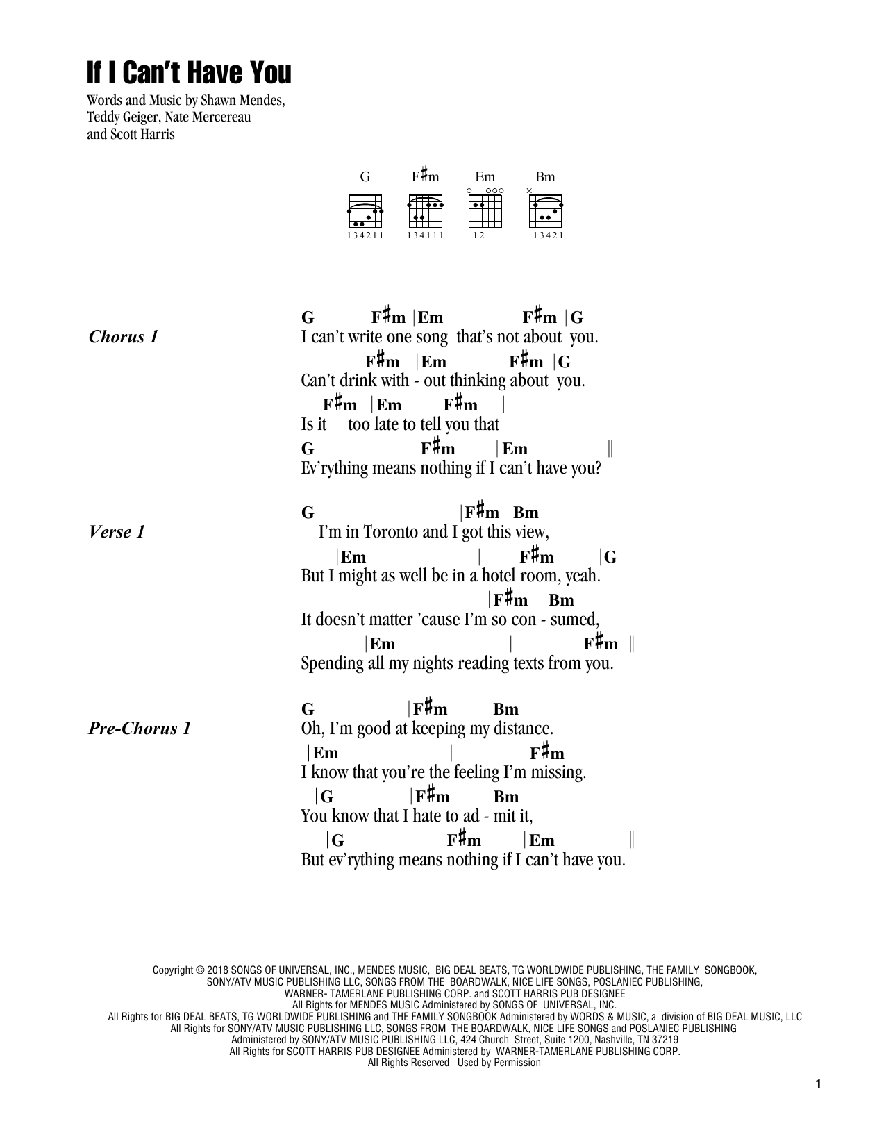 Shawn Mendes If I Can T Have You Sheet Music Notes Chords Score Download Printable Pdf Ukelele Songs Guitar Chords And Lyrics Shawn Mendes Songs