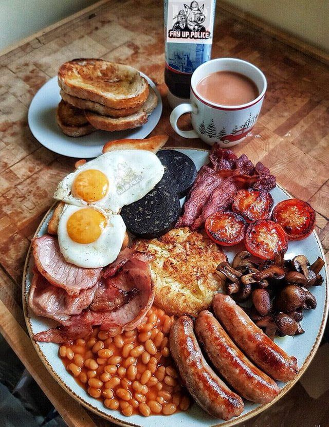 A proper English 'fry up' for comparison to an earlier post.