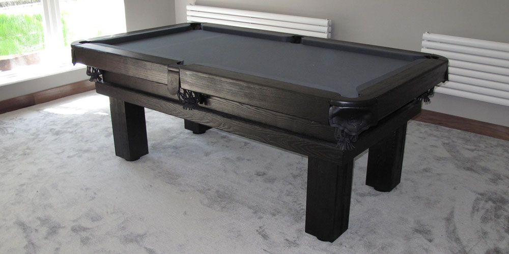 Rustic Pool Table With Ash Colour E Black And Simonis Slate - Simonis pool table felt colors
