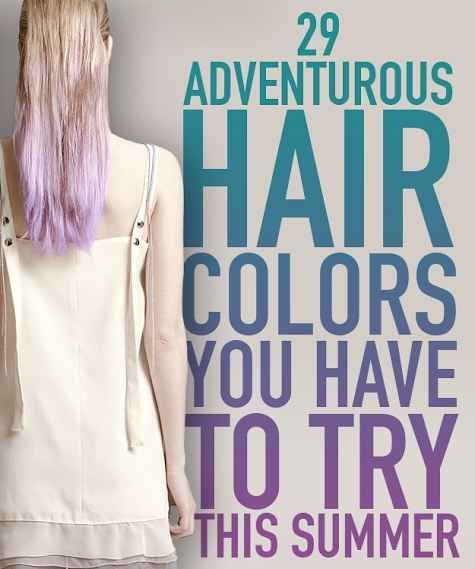 29 Creative And Colorful Hair Trends To Try This Summer I want to try some of the less outrageous ones with temporary dye...