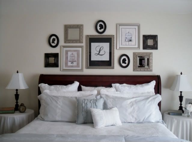 Wall Above Headboard Love For The Home Pinterest Middle Monograms And Master Bedroom
