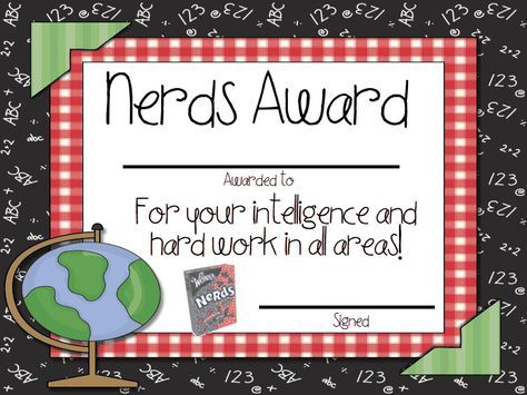 Candy AwardsPdf End Of The Year Certificates  Preschool