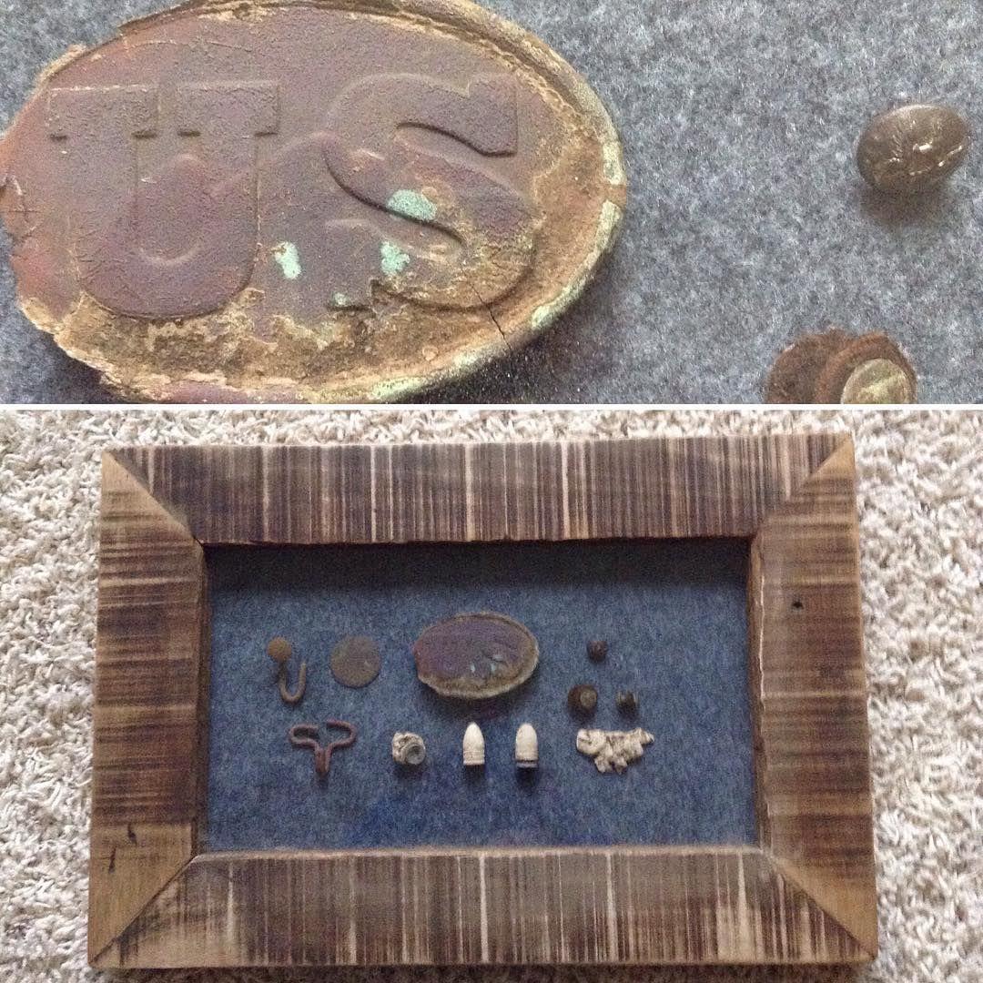 New Homemade Pallet Shadowbox 2 Civilwar Metaldetecting Metal Home Made Detector Detecting Shadow Box