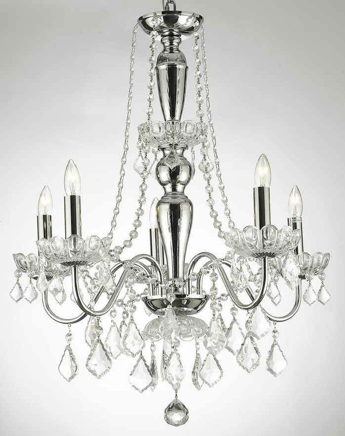 Gallery 225 chrome crystal chandelier for my dining room gallery 225 chrome crystal chandelier for my aloadofball Gallery