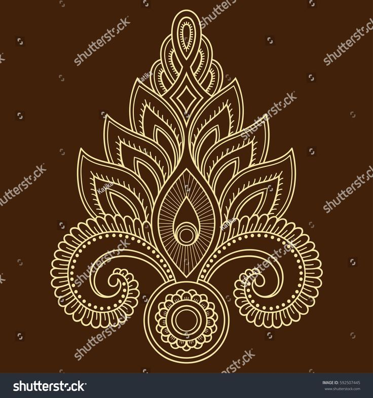 Henna tattoo flower template in Indian style  Ethnic floral paisley   Lotus  Mehndi style  Decorative pattern in oriental style is part of Henna drawings, Mehndi flower, Lotus flower design, Tattoo design drawings, Flower pattern design, Tattoo drawings - Henna tattoo flower template in Indian style  Ethnic floral paisley  Lotus  Mehndi style  Decorativ