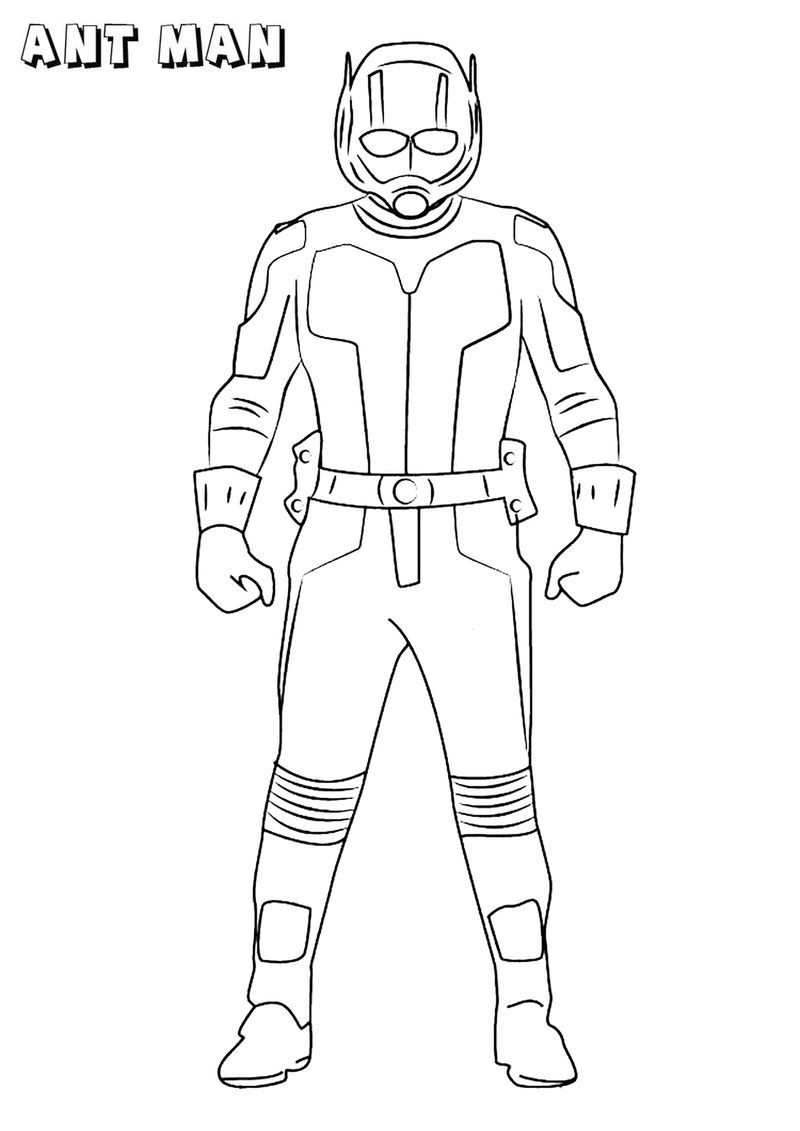 Ant Man Coloring Pages See The Category To Find More Printable