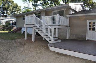 Split Level Deck Option Building A Deck Deck Designs Backyard