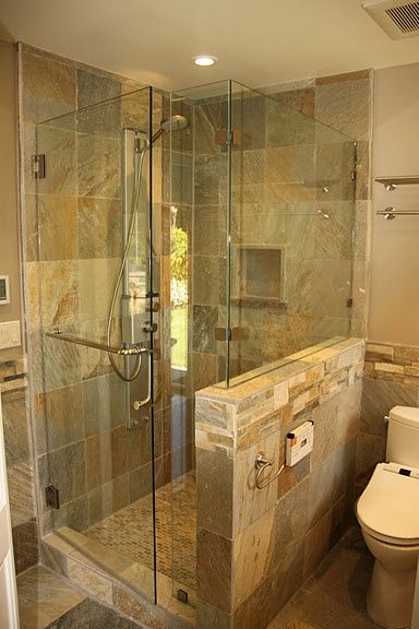 Master Bathroom Glass Shower | Bathrooms | Pinterest | Master ...