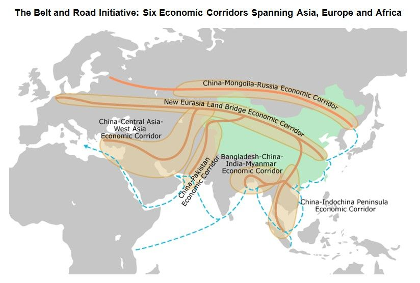 Image result for poland central asia map trade  Poland OBOR