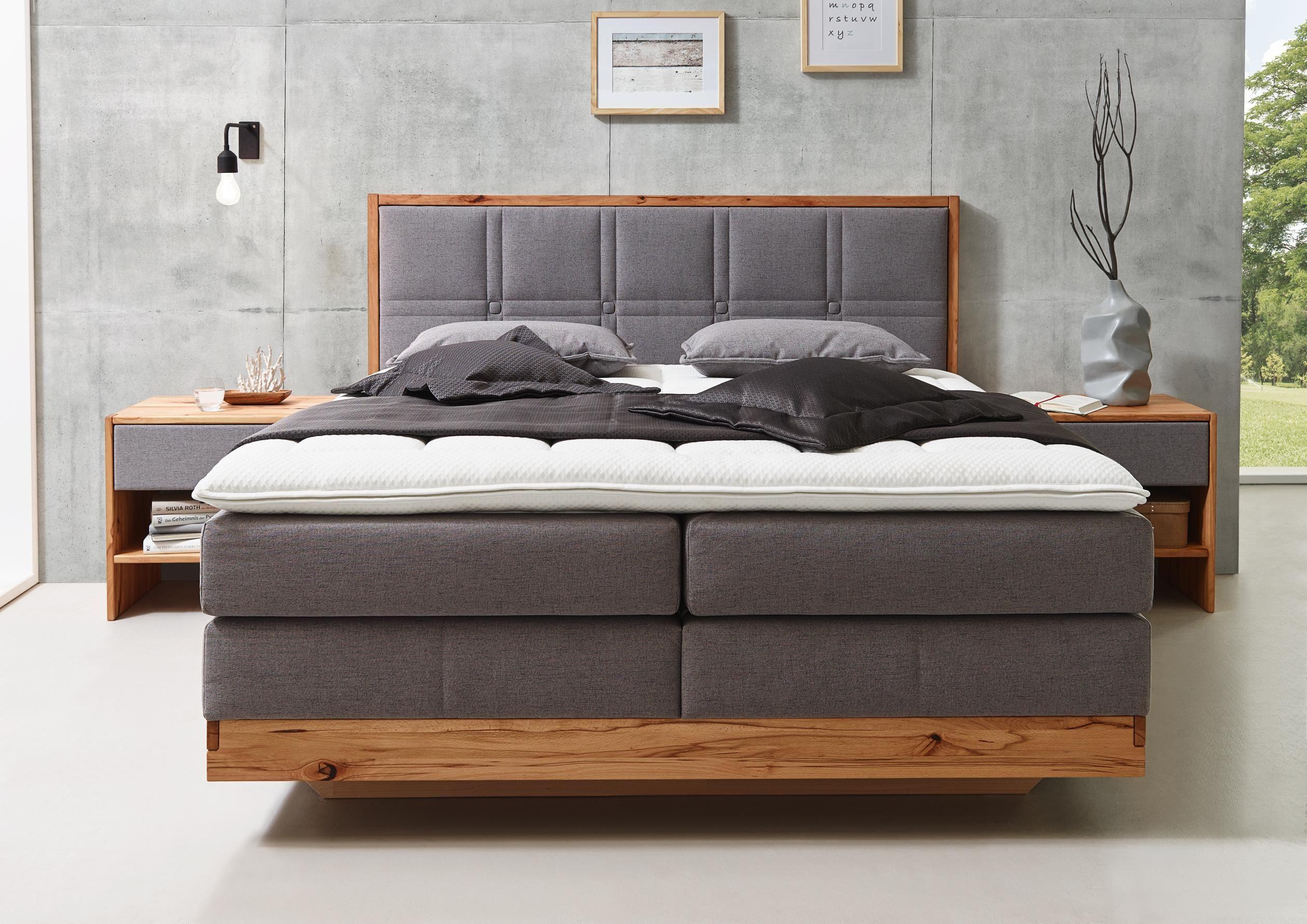 Boxspringbett 180 200 Cm In Grau Buchefarben Online Kaufen Xxxlutz Schlafzimmer Komplettes Schlafzimmer Bett Aus Paletten