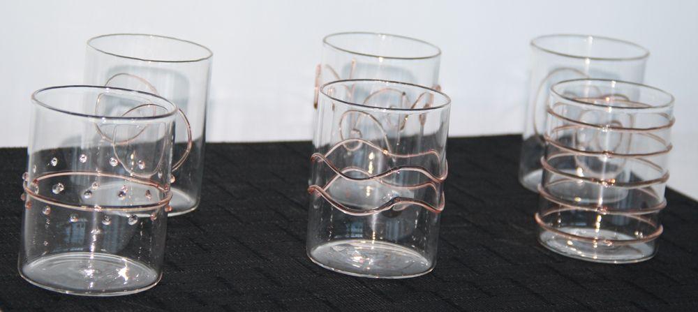 Deco Water Red Art Glasses s 6 Ichendorf Milano