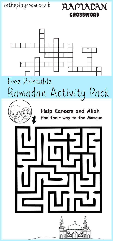 ramadan maze and crossword printable activities - Print Activities For Kids