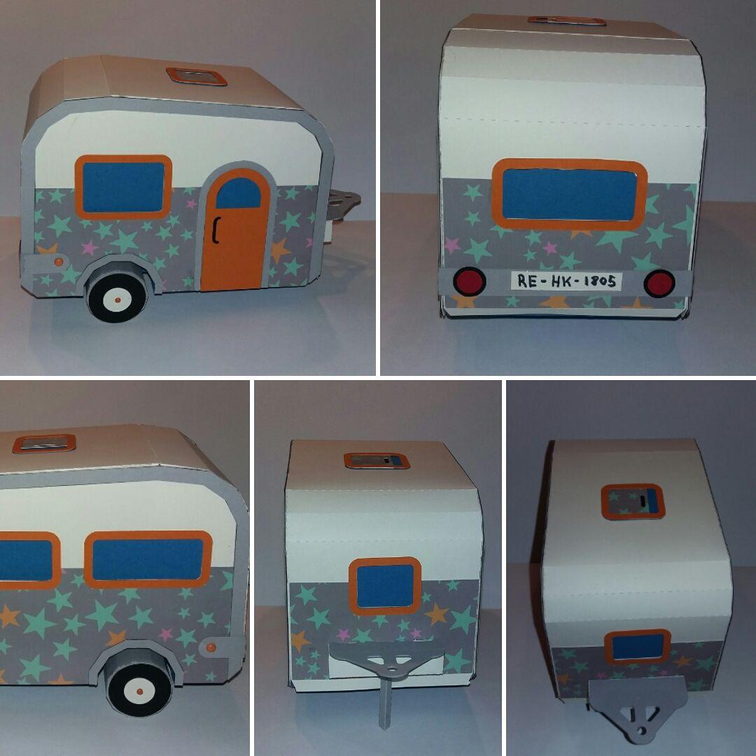 Wohnwagen Aus Papier Basteln Basteln Basteln Mit Papier Camping Geschenke Wohnwagen