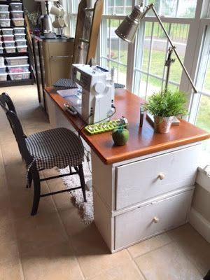 Make Your Own Desk Or Sewing Table With Things You Might Already Have