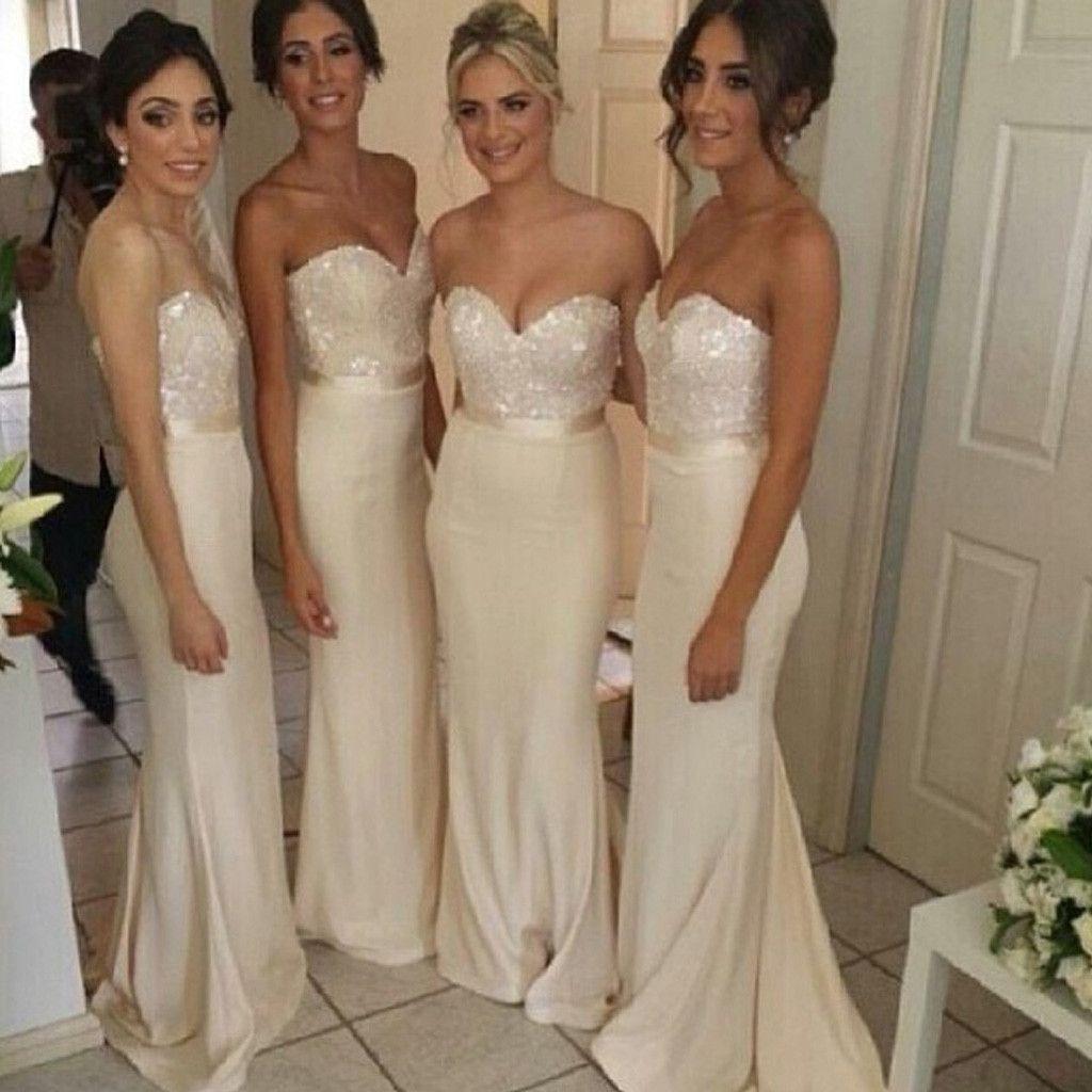Elegant Sweet Heart Sexy Mermaid Wedding Party Long Pretty Cheap Bridesmaid  Dresses 8c9c6ff21048