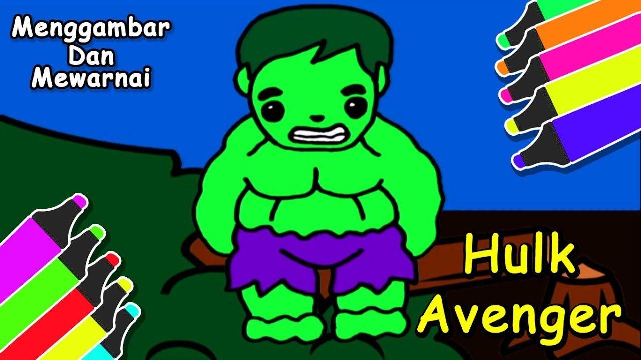 Ada Hulk Menggambar Serta Mewarnai Kartun Lucu Gambar Hulk