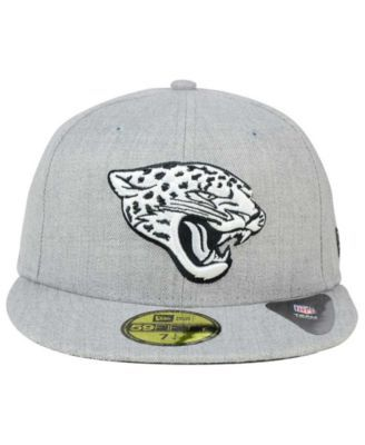 New Era Jacksonville Jaguars Heather Black White 59FIFTY Fitted Cap - Gray  7 1 2 06be2f801