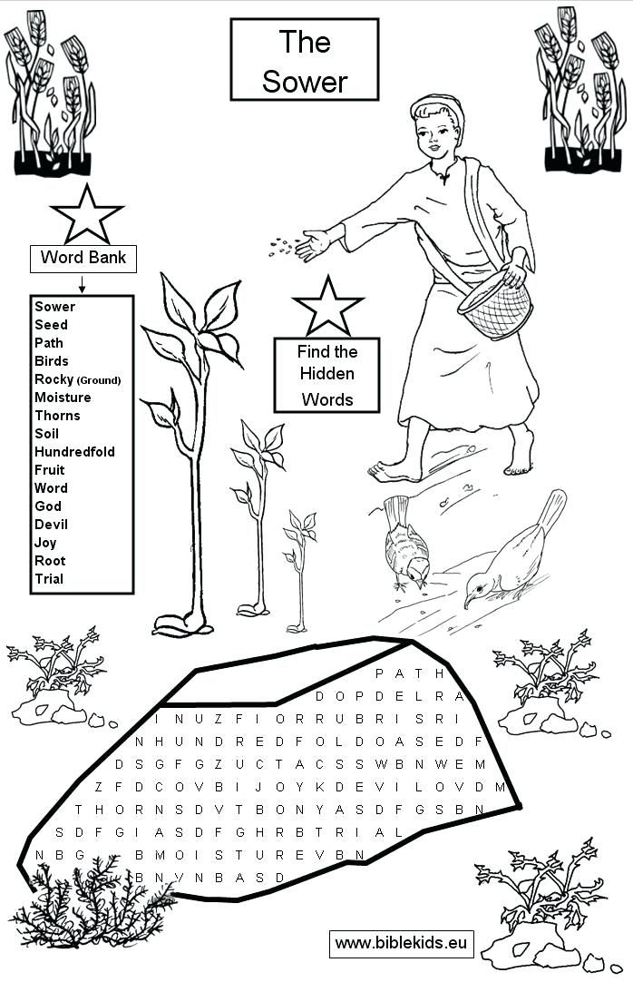parable of the sower coloring page sower parable coloring