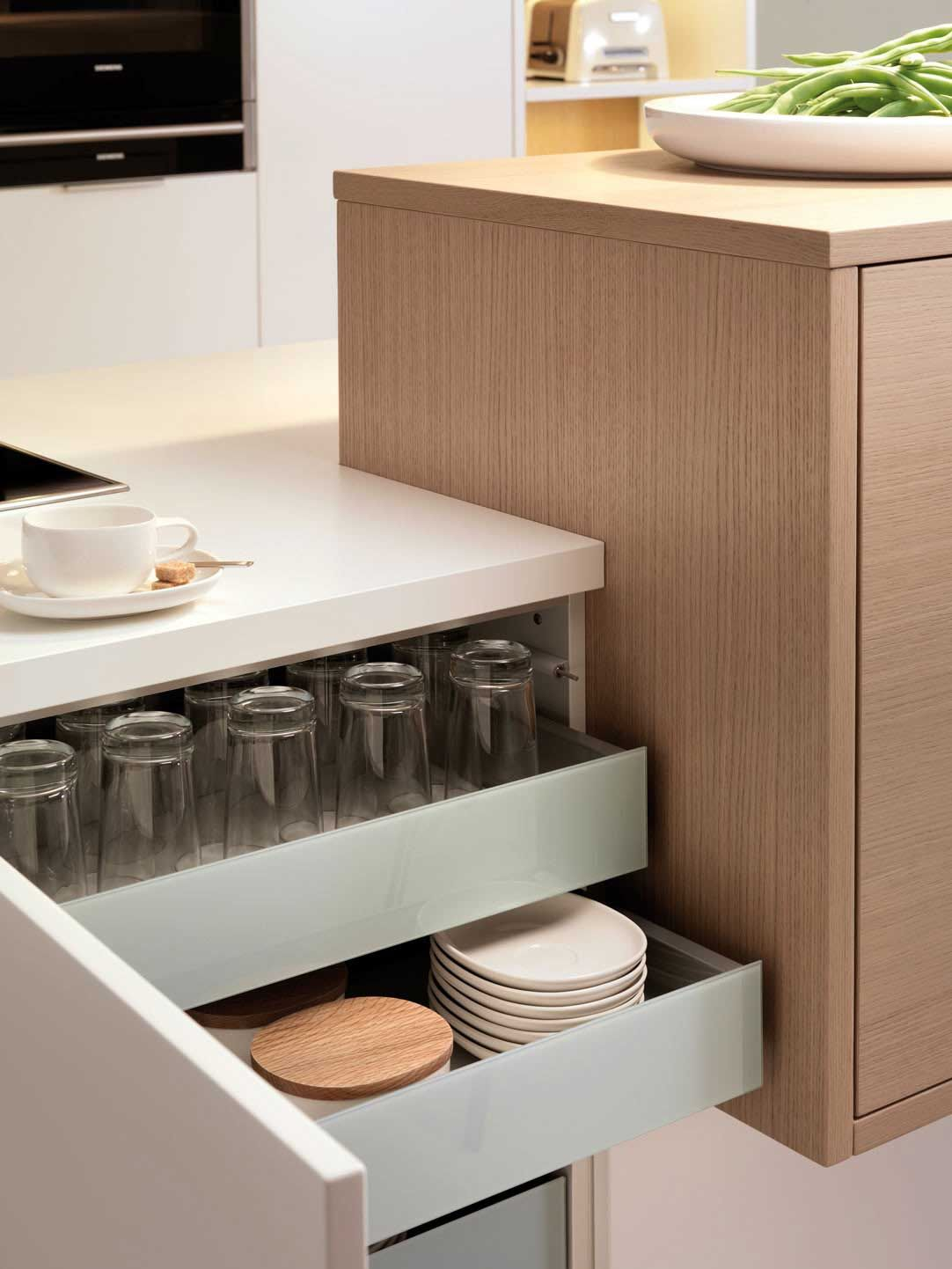 Leicht kitchen fit for purpose drawers   Design ...