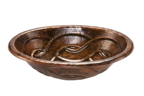 Premier Copper Products Oval Copper Drop In Sink With