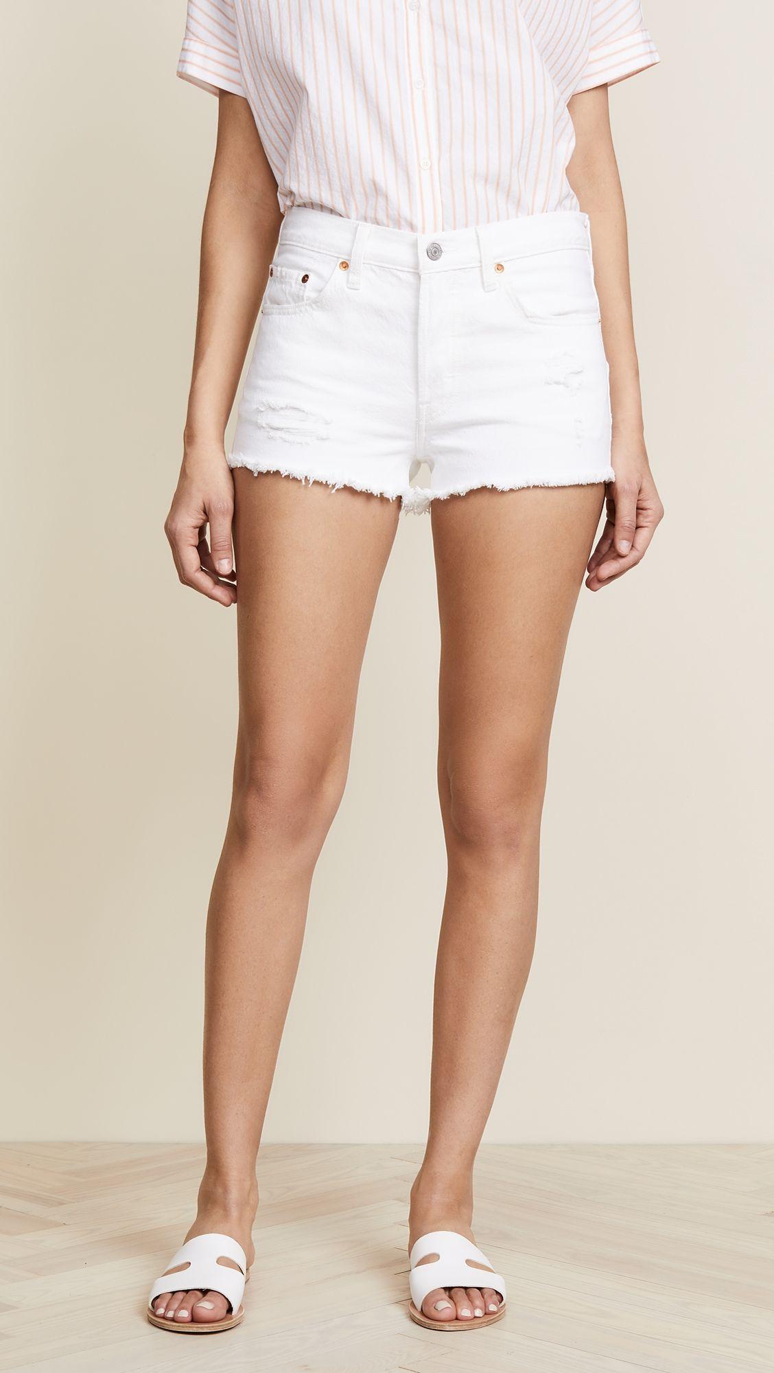 1119323ac 501 Shorts in 2019   Products   Levi 501 shorts, Levi shorts, White ...