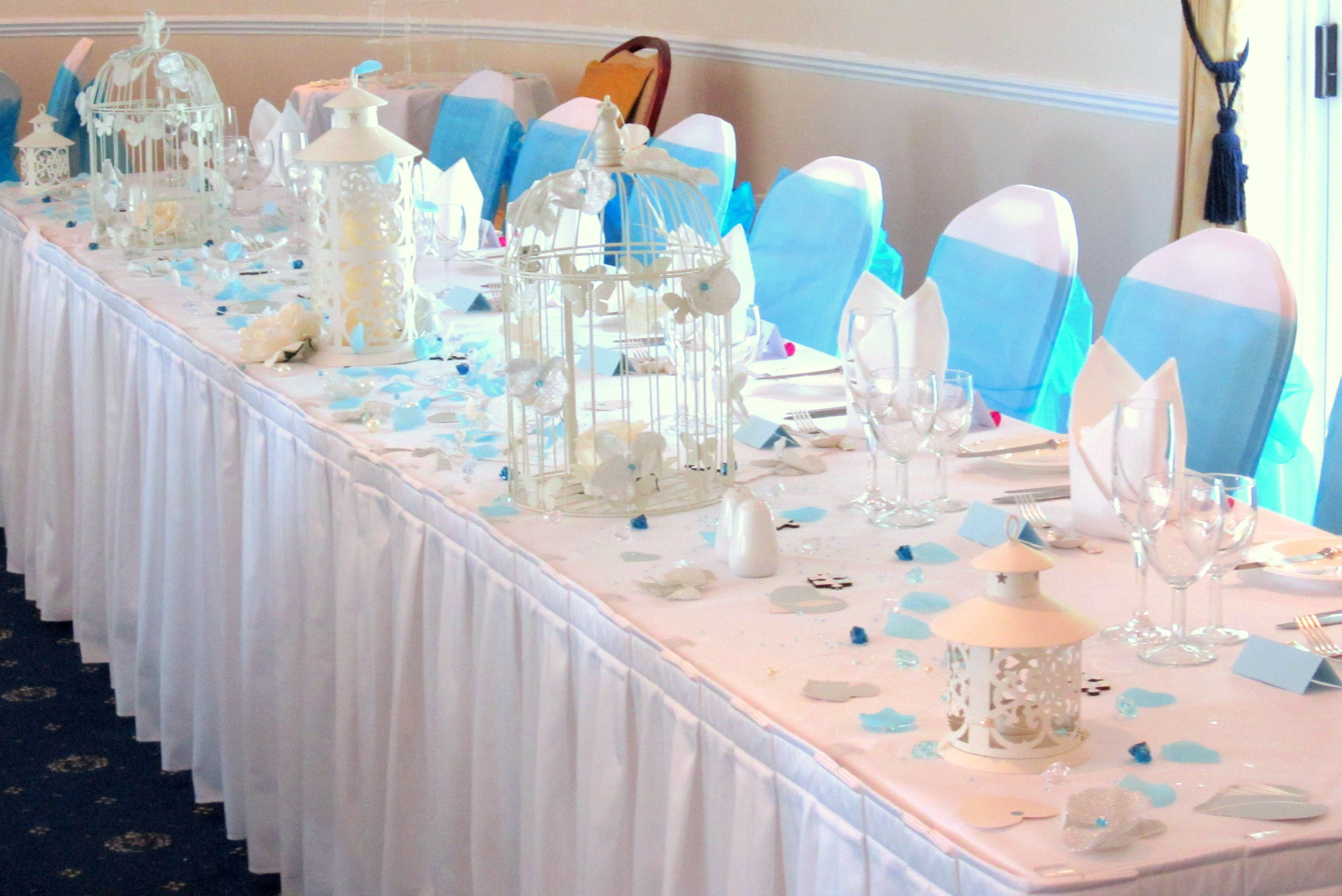 Sky Blue Theme Wedding Bird Cages Available For Lease Hire Via Http
