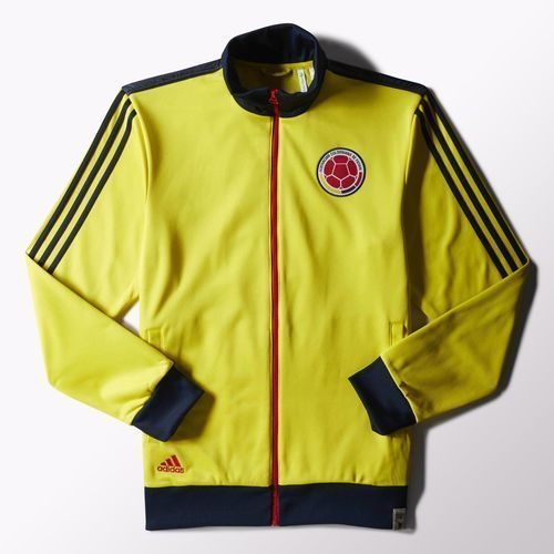 cb41e4a5fe7 COLOMBIA ADIDAS ORIGINAL Jacket Chaqueta Track Top Yellow Soccer - M36367