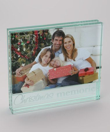 Another great find on #zulily! 'Christmas Memories' Glass 4'' x 6'' Frame by Mud Pie #zulilyfinds