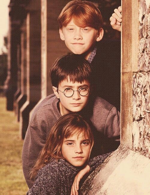 Three best friends | Harry Potter | Harry potter hermione, Harry