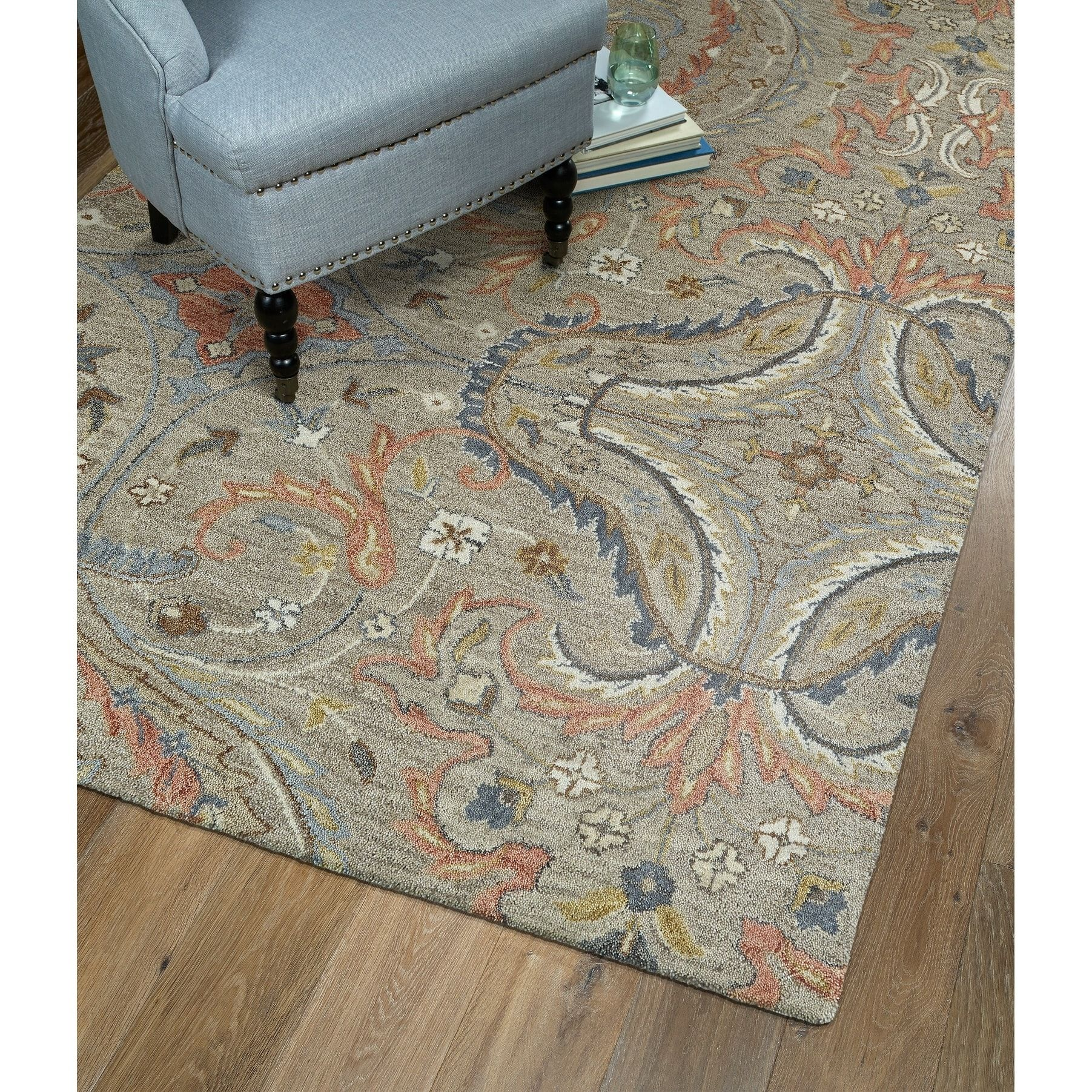 Hand Tufted Christopher Taupe Wool Rug 12 X 15 Brown Bombay Home Hand Tufted Rugs Wool Area Rugs Colorful Rugs