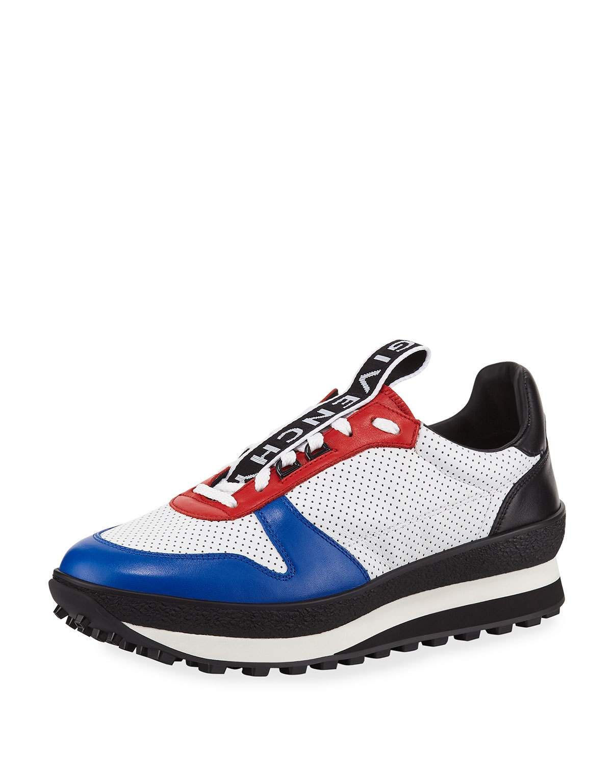 eac9399e539b78 GIVENCHY MEN'S TR3 LOW-TOP LEATHER RUNNING SNEAKERS. #givenchy #shoes