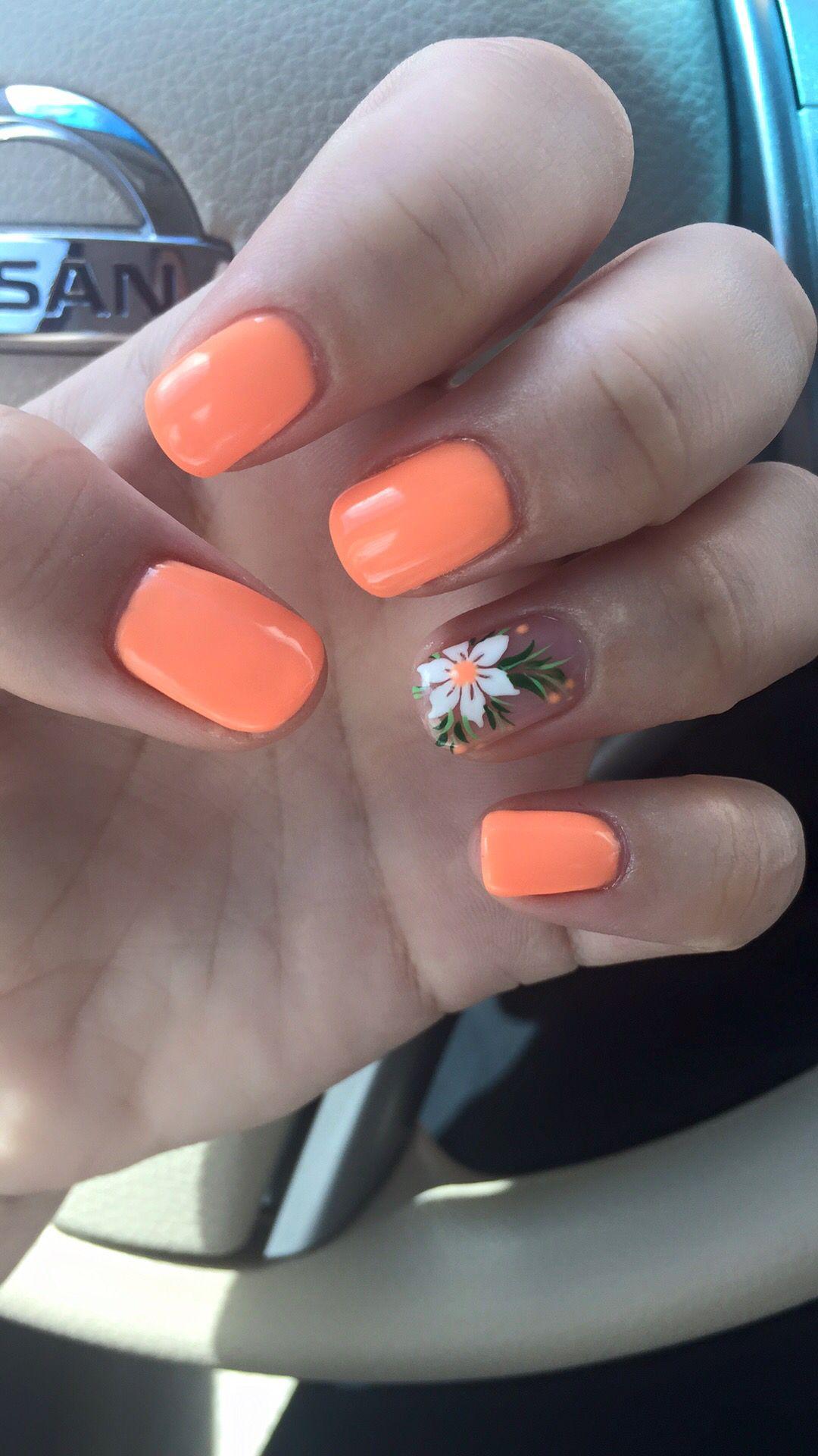 Summer Nails!! Painted with Gel Polish (Kiara Sky). I love my nails ...