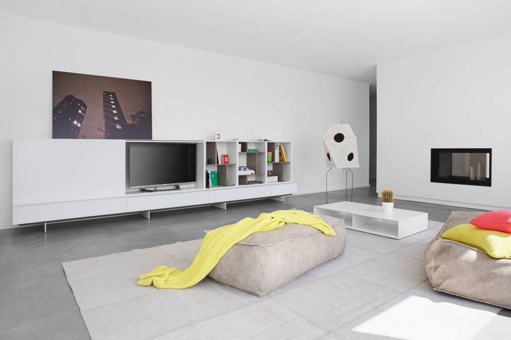 Modernes Regalsystem Alea, Wohnsystem Kettnaker
