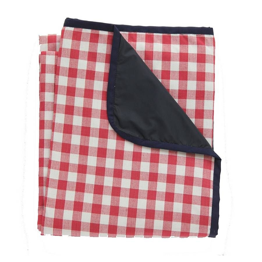 Extra Large Red Gingham Picnic Rug By Just A Joy Notonthehighstreet