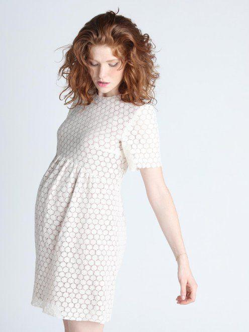 robe de grossesse habill e en dentelle blanche alice paula janz photo dress style. Black Bedroom Furniture Sets. Home Design Ideas