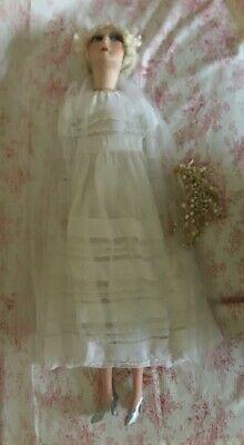 Подробные сведения о Антикварная кукла будуар невеста- без перевода #bridedolls