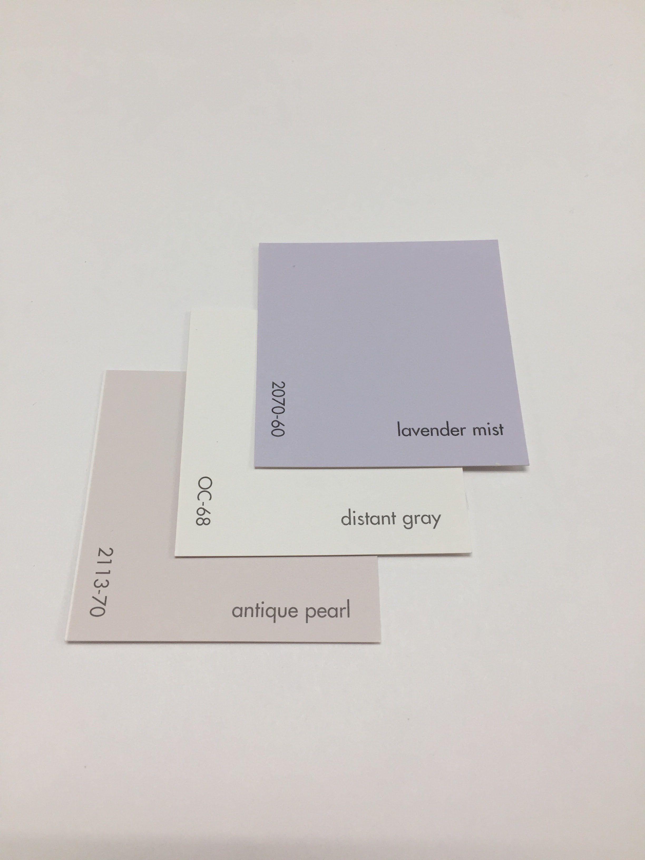 Benjamin Moore Lavender Mist 2070 60 Distant Gray Oc 68