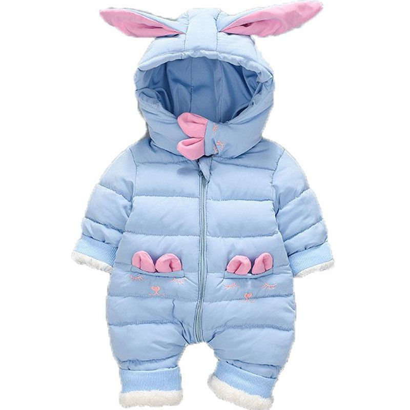 71ab6af6f845 Newborn Baby Hooded Romper Winter Baby Clothes Thick Cotton Outerwear Baby  Girls Outfits Baby Boys Jumpsuit Infant Overalls E200