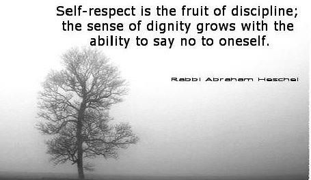 Image result for self respect is the fruit of discipline