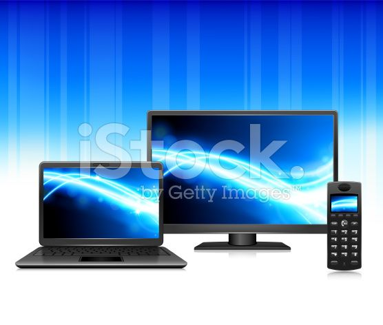 Internet, TV and Phone triple play royalty-free stock vector art
