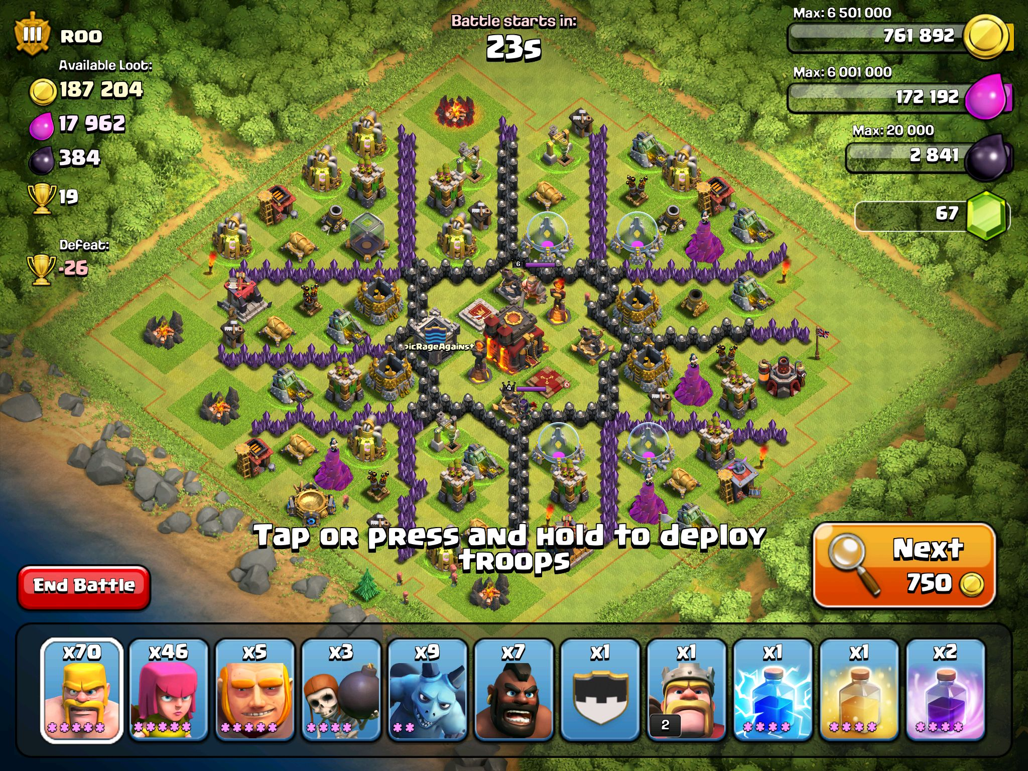 Lvl 10 th nearly round coc base clash of clans pinterest