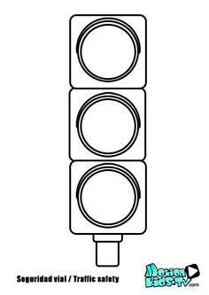 Colorear Semaforo Pintas Senales Trafico Recursos Seguridad Vial Traffic Light Coloring Pages