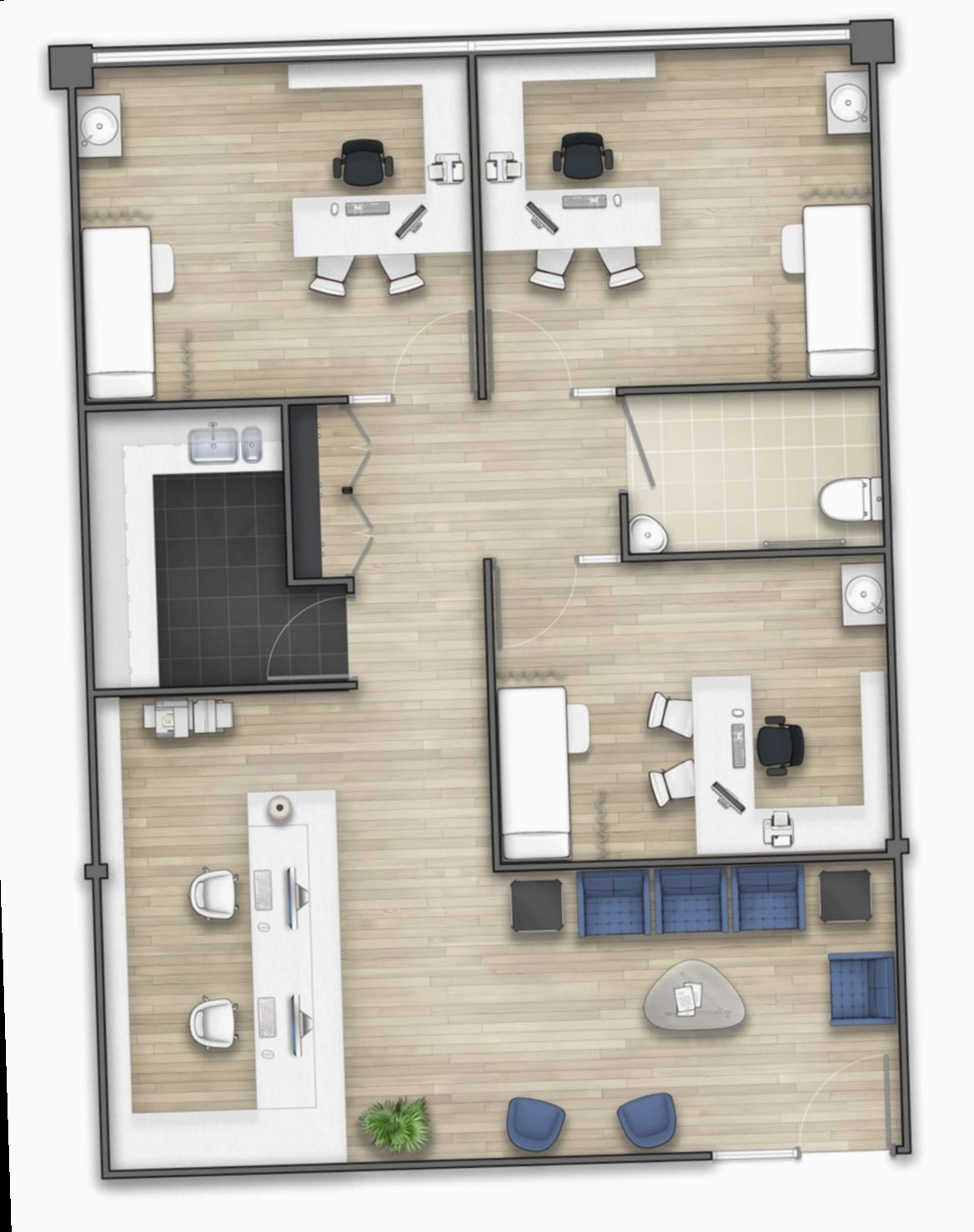 Office Design Layout Floor Plans Minimalistic Officeinspo Setup In 2020 Small Office Design Modern Office Design Office Layout