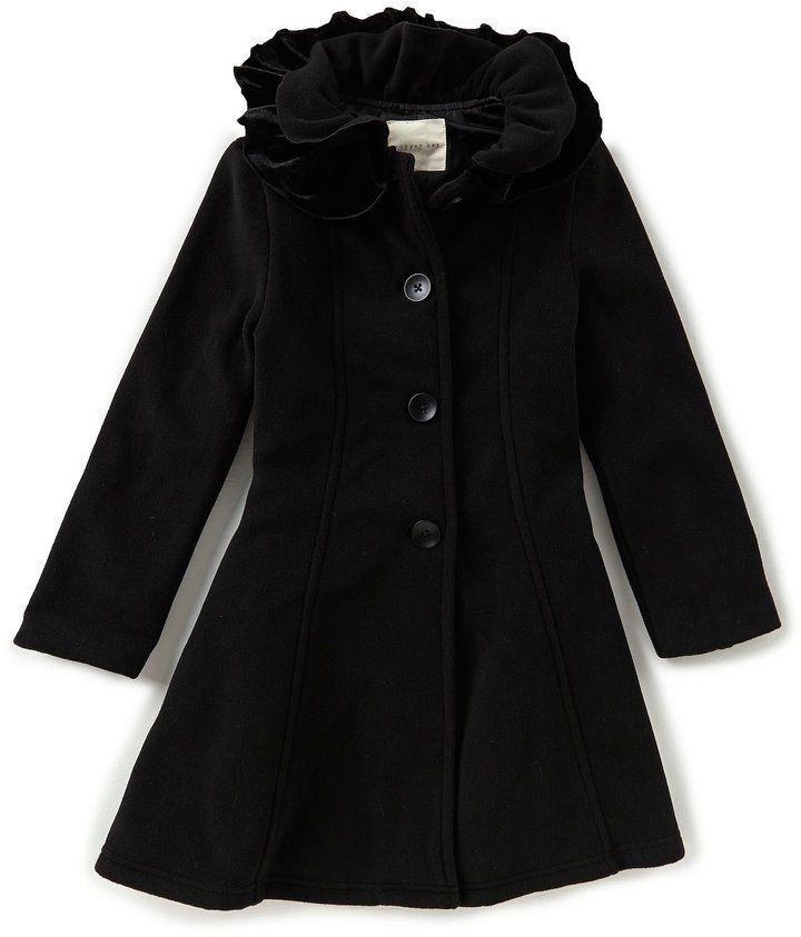 3da94cb2c04 Copper Key Little Girls 2T-6X Ruffle Collar Fleece Coat