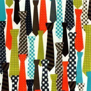 Retro Mens Ties Neckties on Cotton Woven Fabric por StitchandWhimsy, $8.50