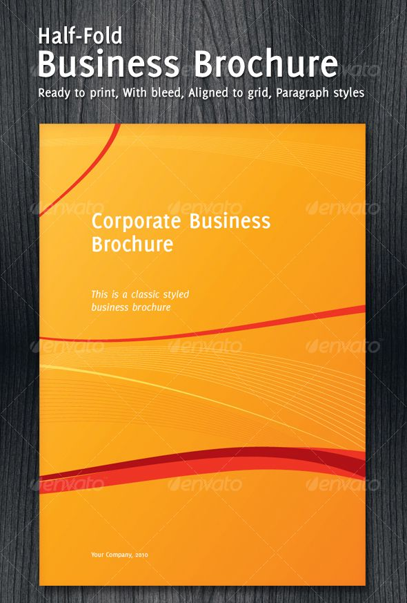 Business Tri Fold Brochure Templates Black and Yellow Trifold