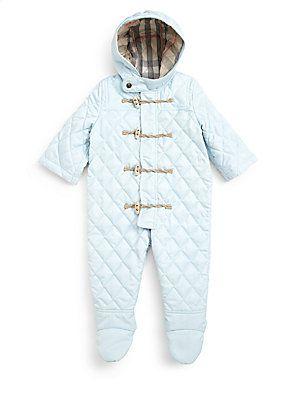 ce94fba4a Burberry Infant's Quilted Snowsuit | James Jr. | Snow suit, Baby ...